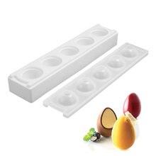 5 полостей яркая 3d форма в форме яйца для Мусса и торта выпечки