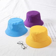 2020 New Cotton Bucket Hats Women Summer Sunscreen Panama Hat Men Pure Color Sunbonnet Fedoras Outdoor Fisherman Beach Cap