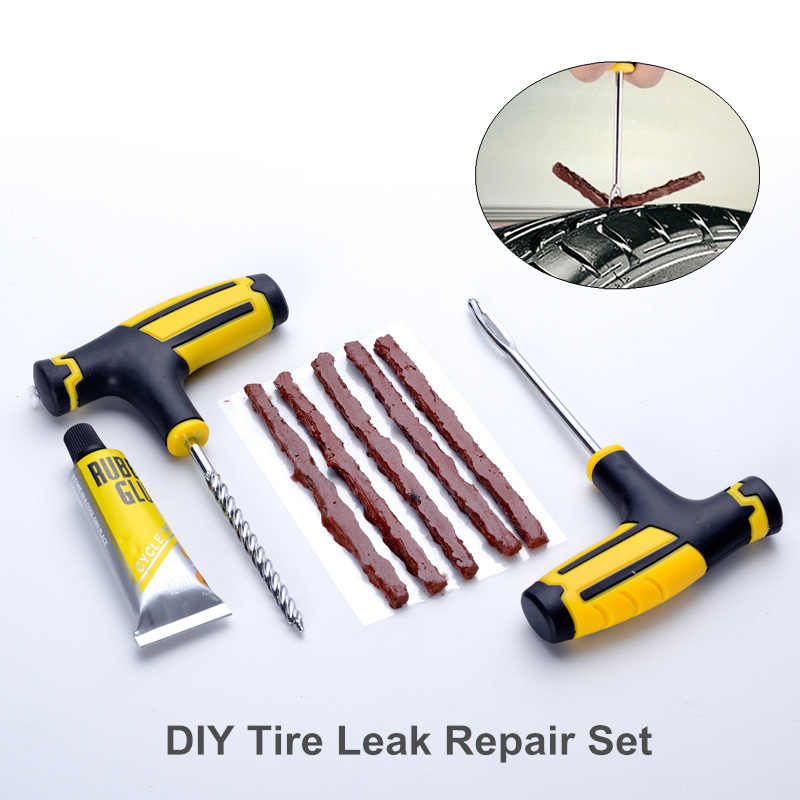 Outdoor Tire Repair kit Emergency self-service Tire Leak Repair tool vulcanized rubber strip puncture Fill field Tyre Repair Set