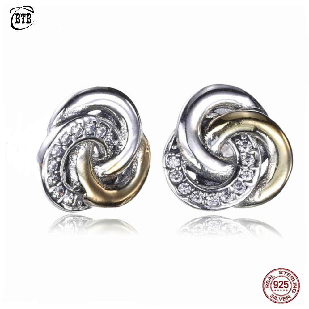 Wostu Dazzling Daisies S925 Sterling Silver Ear Stud Clip Cuff Earrings With CZ