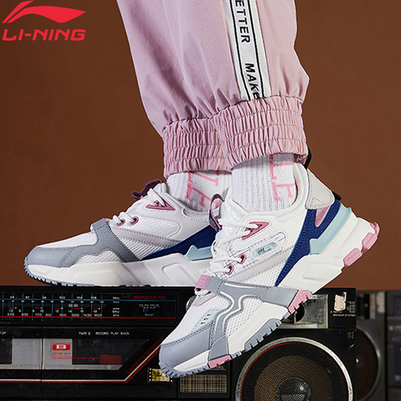 Li-Ning Women 001 R-2 Classic Lifestyle Shoes Support Retro LiNing Li Ning Sport Dad Shoes Leisure Sneakers AGCQ016 YXB346
