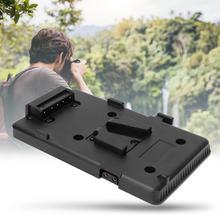 Bateria traseira pacote placa adaptador para sony v montagem v lock bateria placa de bateria para câmera dslr filmadora luz de vídeo