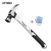DTBD Magnetic Claw Hammer for Woodworking Automatic Nail Suction Hammer Multifunction Non-slip Shockproof Steel Hammer Hand Tool