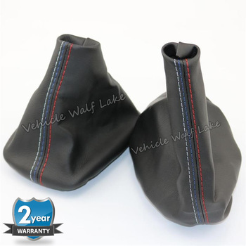 For BMW 3 Series E46 1995 1996 1997 1998 1999 2000 2001 2002 2003 2004 Car Shift Gear Stick Manual Handbrake Gaiter Leather Boot image