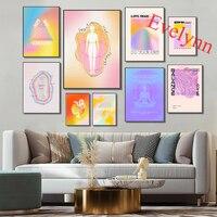 ملصق عتيق فني مخدر ، 70s قماش ديكور للمنزل ، إقتباس مدروس ، التدرج ، الطاقة الروحية جدار الفن يطبع ، ديكور غرفة المعيشة