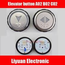 Elevator-Button Light XHB-NR36C-A02 B02 4pin CO2 R34V3.0.0 Yellow