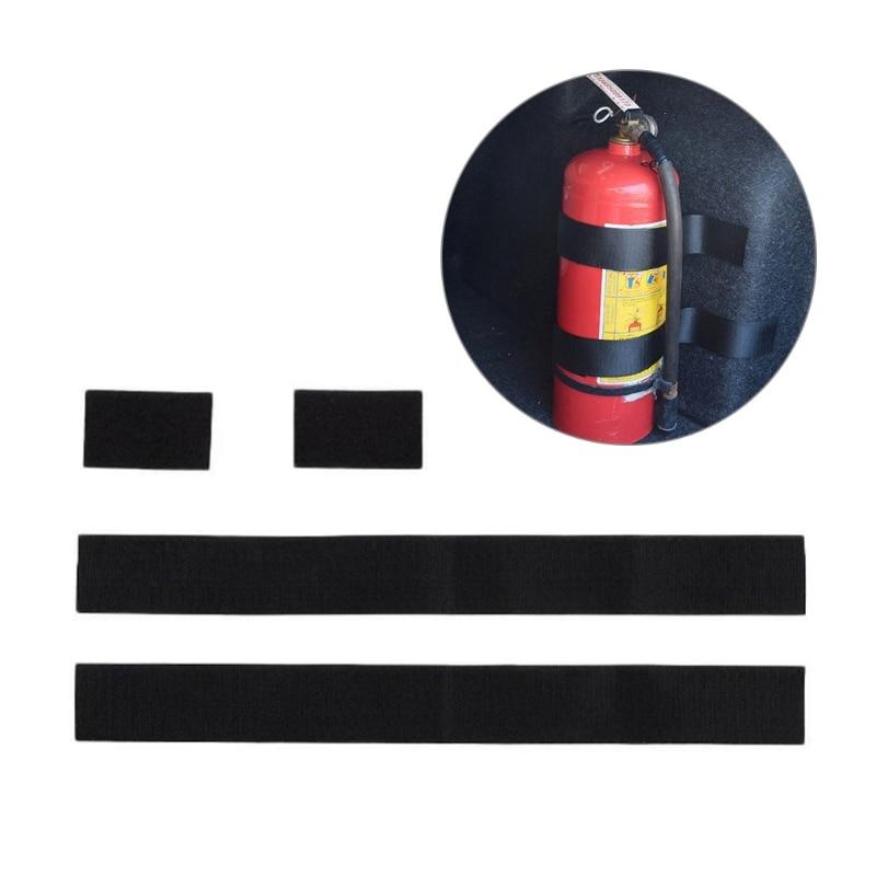 2 PCS Fire Extinguisher Car Trunk Holder Universal Strap Down Design Organizer