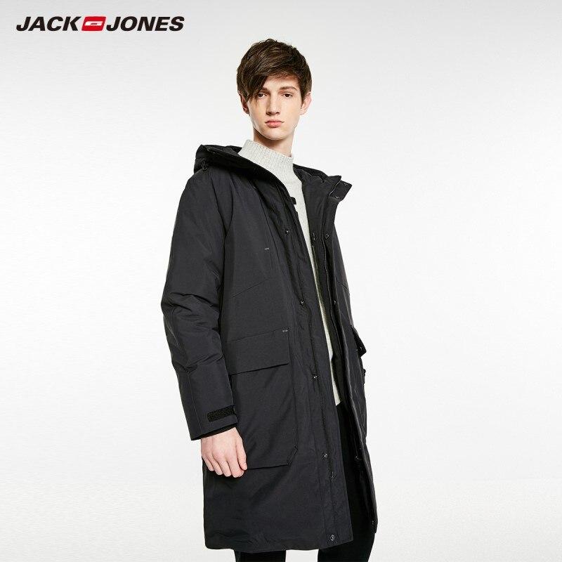 JackJones Men's Hooded Long Down Jacket Parka Coat Menswear 218412522