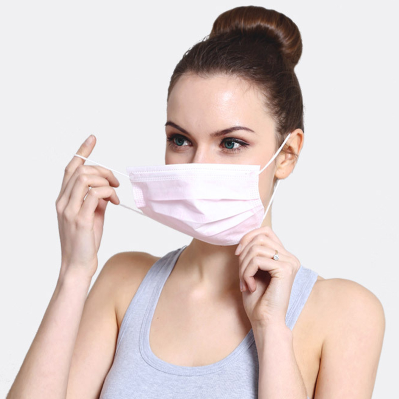 50Pcs/Pack Face Mask Nonwoven Disposable Face Masks PM2.5 Filter Anti Dust Respirator Soft Breathable Mouth Cover Flu Protect
