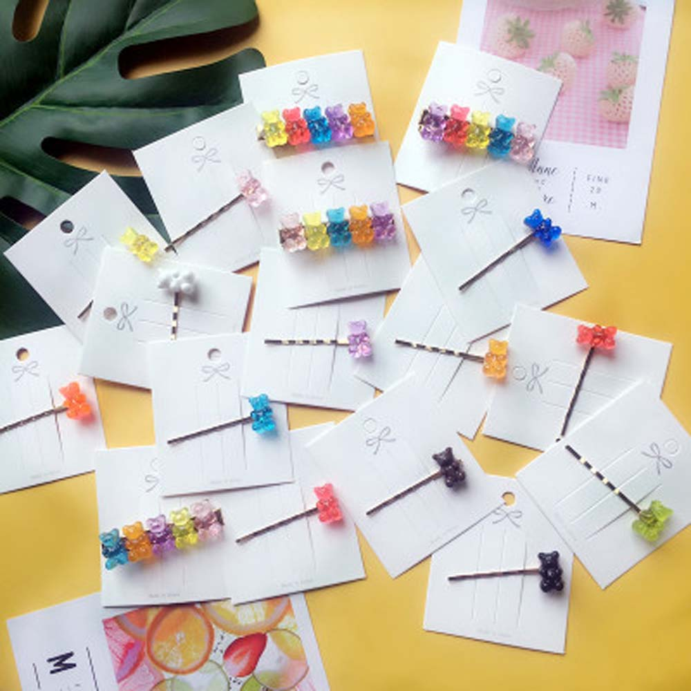 Handmade Lovely Colorful Acrylic Hair Clip Gummy Bear Hair Pins Barrettes Hairpin Hair Accessories For Women Girls Jewelry