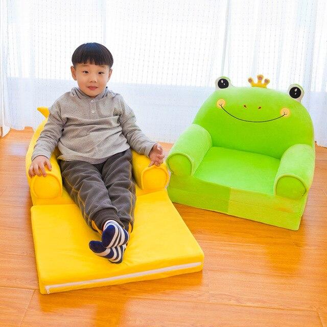 Cartoon Children Folding Small Sofa Girl Boy Princess Baby Sofa Chair Kids Lazy Tatami Single Cushion Seat Removable Washable