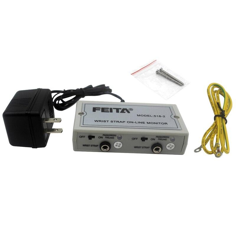 FEITA 518-2 ESD Antisatic Wrist Strap Monitor Anti Static Wrist Strap Online Monitor Free Ship