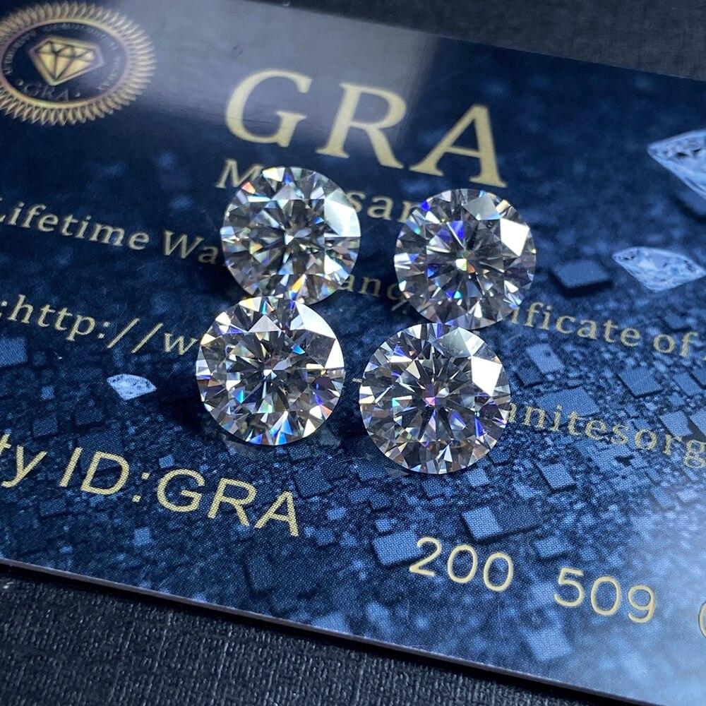4ct VVS1 10mm D couleur laboratoire Moissanite diamant excellente coupe de haute qualité mode anneau fabrication de bijoux