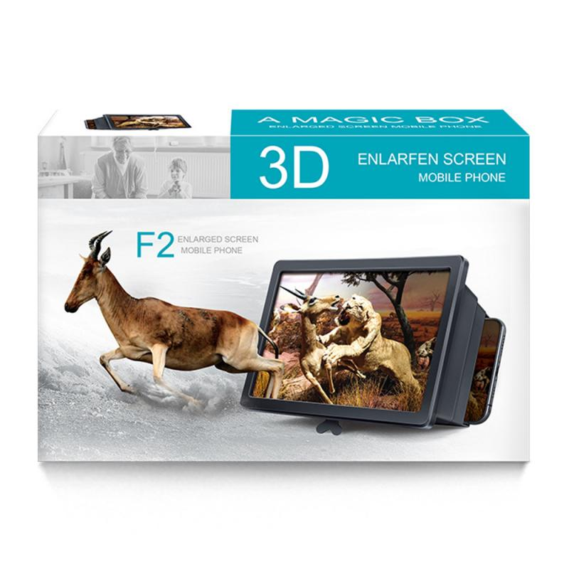 Mobile Phone 3D Screen Video Magnifier Foldable Bracket Folding Enlarged Desktop Smartphone Movie HD Amplifying Projector Stand