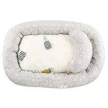 Хлопковая детская корзина для сна, переносная детская кроватка для путешествий, для новорожденных, для сна, для ухода за ребенком, мягкое уплотненное постельное белье, защитный коврик YAP014