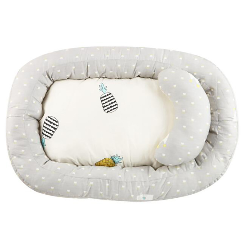 Cotton Baby Sleeping Basket Travel Crib Portable Newborn Baby Sleeping Care Nest Soft Thicken Bedclothes Protection Pad YAP014