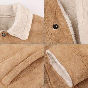 Image 5 - Refire engrenagem inverno quente do exército tático jaquetas homens piloto bombardeiro vôo militar jaqueta casual grosso lã de algodão forro casaco