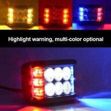 Barre lumineuse de travail pour voiture tout-terrain, lampe stroboscopique blanche et rouge, 4 pouces, pour camion, ATV SUV