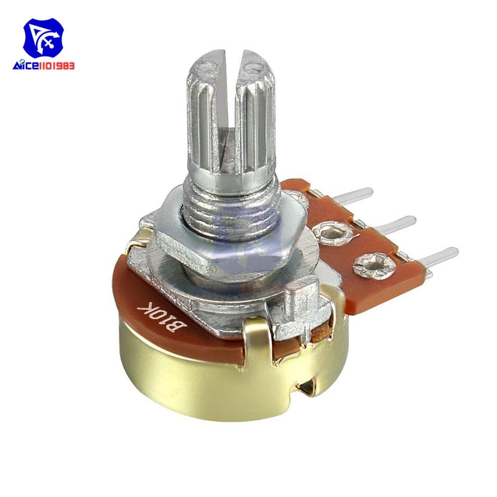 5 Pz/lotto Resistore del Potenziometro 1K 2K 5K 10K 20K 50K 100K 500K ohm 3 Spille Lineare del Cono Rotativo Potenziometro per Arduino con la Protezione