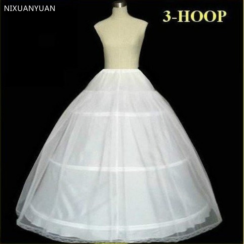 Plus Size In Stock Hot Sale 3 Hoop Ball Gown Bone Full Crinoline Petticoats For Wedding Dress Wedding Skirt Accessories Slip