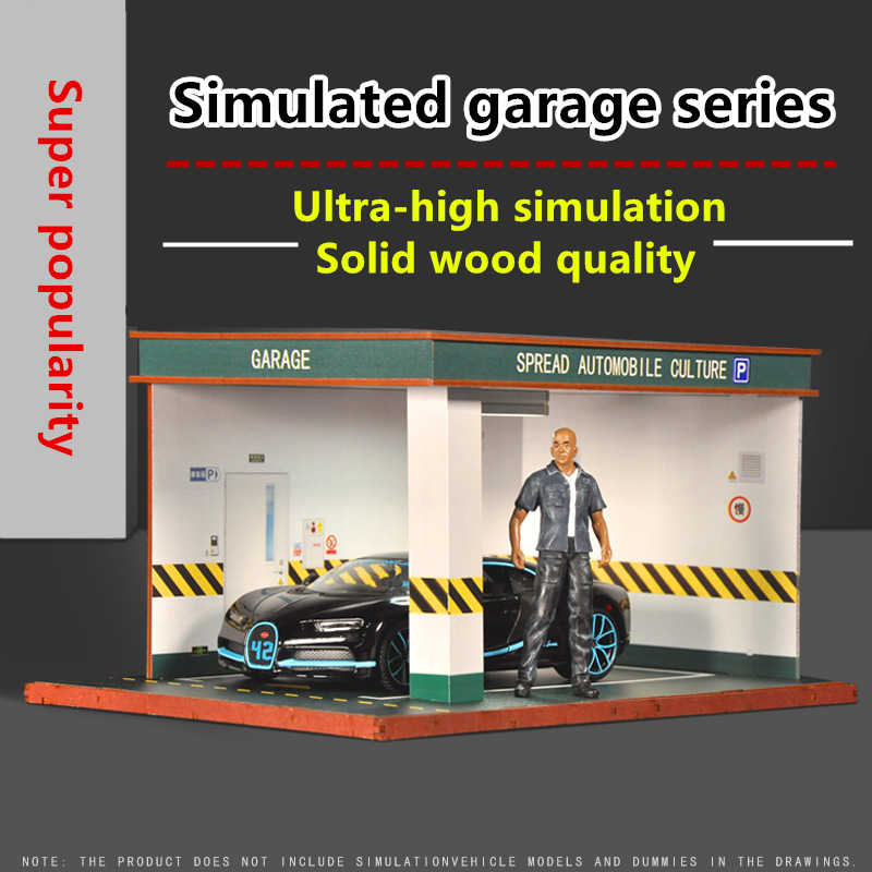 Simulation Garage 1/24 1/32 Car Model Parking Space Scene Handmade Decoration Show Toy Collection Gift