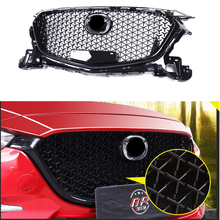 For Mazda 3 Axela 2017 2018 Front Bumper Grill Upper Grille Black Auto Car Parts & Accessories grille grill for сосисок diolex 24 9 cm