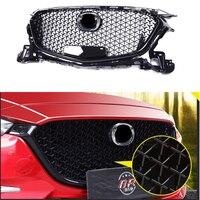 For Mazda 3 Axela 2017 2018 Front Bumper Grill Upper Grille Black Auto Car Parts & Accessories