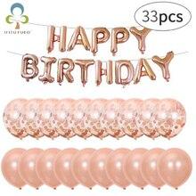 35 шт. неоновые стикеры воздушные буквы альфабе фольга из розового золота воздущные шары Детские игрушки свадьба день рождения гелий воздушный шар ZXH