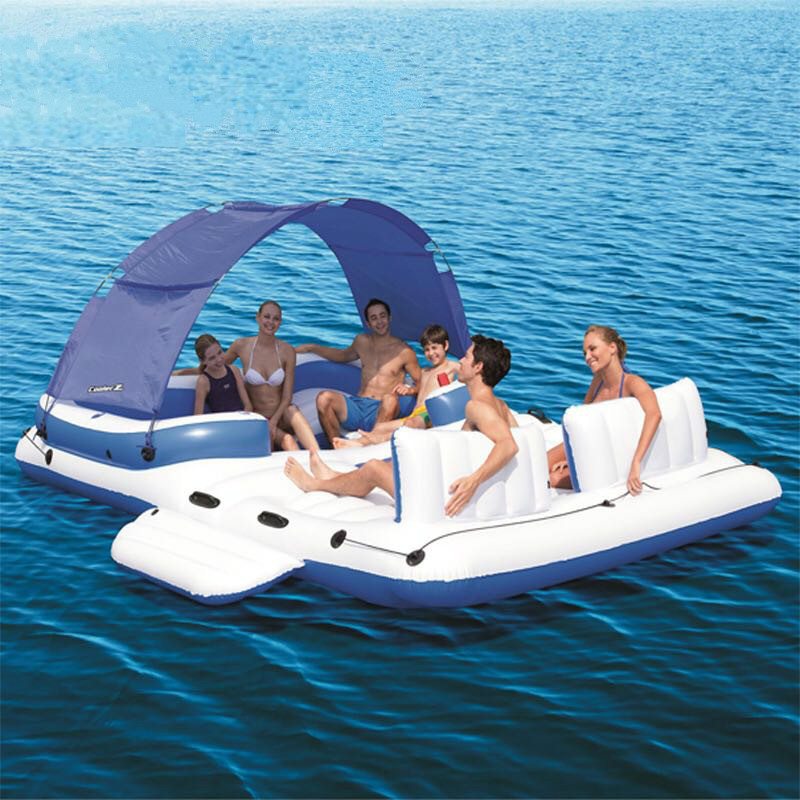 PVC 6-8 Person Fishing, Swimming, Water Sport Inflatable Boat/ Resting Island 1