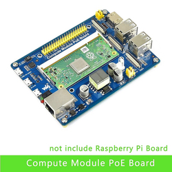 Compute Module IO Board with PoE Feature Composite Breakout Board for Developing with Raspberry Pi CM3 / CM3L / CM3+ / CM3+L
