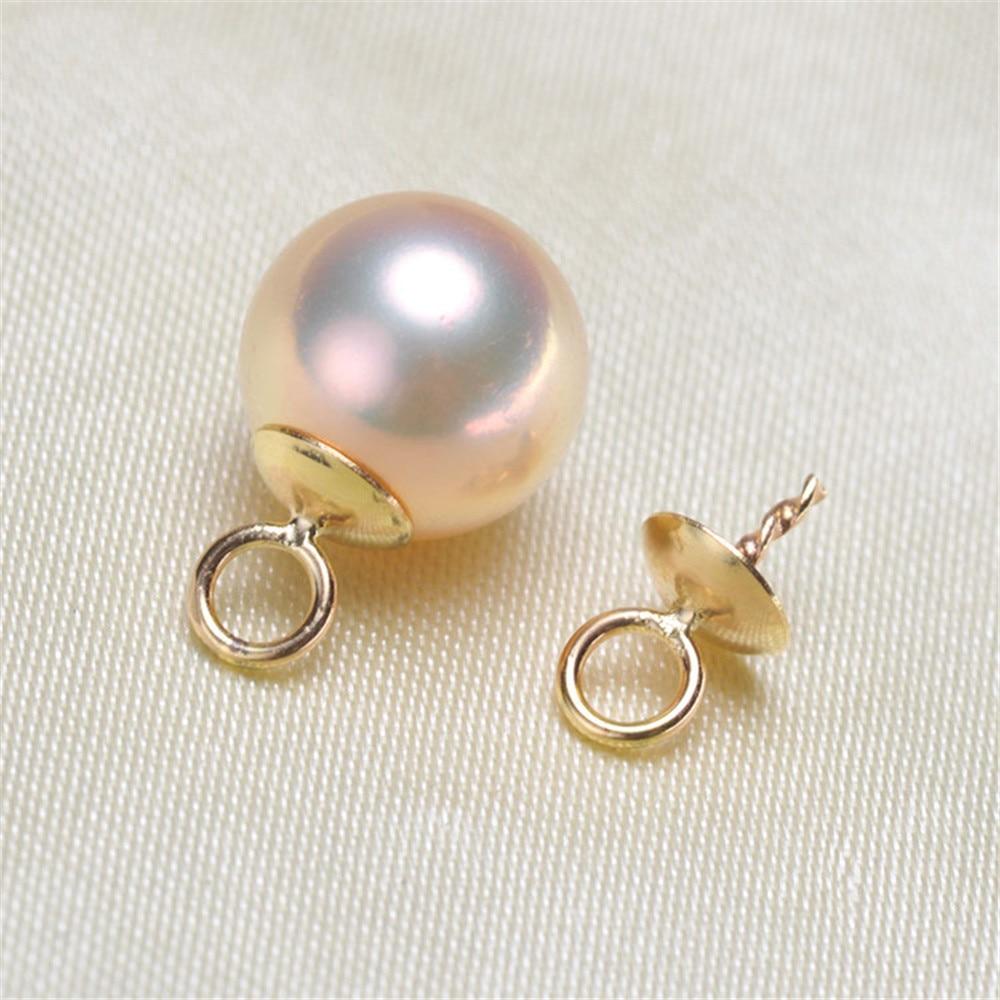 Connecteur de fermoir pendentif en or 18 carats, bouchons de perles avec cheville pour perles semi-percées pendentif collier bricolage pas de perle pas de chaîne