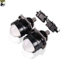 цена на SANVI 2.5 Inch Auto BI LED Projector Lens Headlight  40W 5500k  LED Projector Headlight with H4 h7 9005 9006 Car Accessories