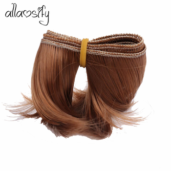 Allaosify 5cm*100cm High Temperature Heat Eesistant Doll Hair For 1/3 1/4 1/6 BJD Diy Curly Doll Wigs Free Shipping image