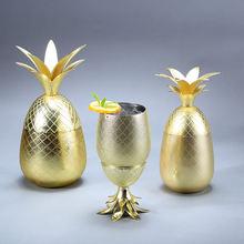 Бокал для коктейлей с ананасом металлическая медная чашка Московский
