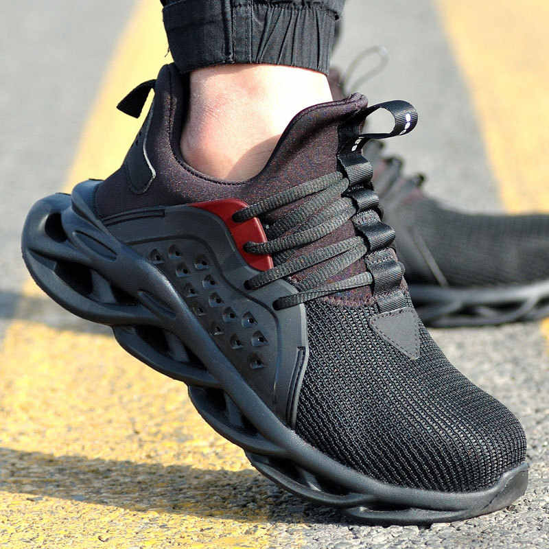 Steel Toe Trainers for Mens Womens Safety Shoes Puncture Proof Sneakers Soft and Breathable Industrial Sneakers