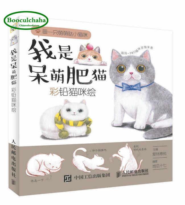 Ben Bir Sisman Kedi Renkli Kursun Kalem Kedi Boyama Kitabi Kedi
