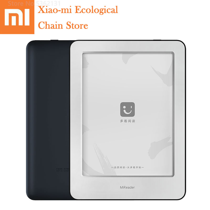 Xiaomi MiReader E-book Reader HD Touch Ink Screen Fortable Tablet Ebook Reader WiFi 16GB Memory With Read Light For Home Office