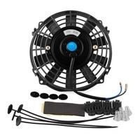 7inch 12V Slim Fan Car Intercooler Kit Parts Pull Radiator Cooling Electric Mount Universal Professional Car Push Kit