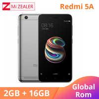 Мобильный телефон Xiaomi Redmi 5A с глобальной прошивкой, 2 Гб ОЗУ, 16 Гб ПЗУ, четырехъядерный процессор Snapdragon 425, 5,0 МП, дюйма, мобильный телефон