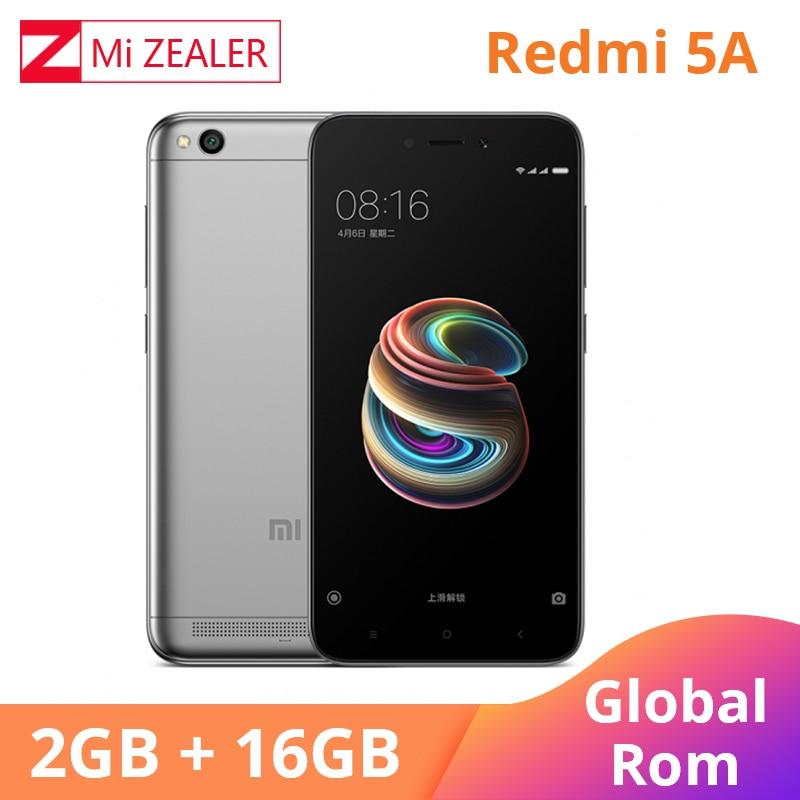 Rom global xiaomi redmi 5a 2 gb ram 16 gb rom telefone móvel snapdragon 425 quad core cpu 13.0mp 5.0 Polegada telefone móvel