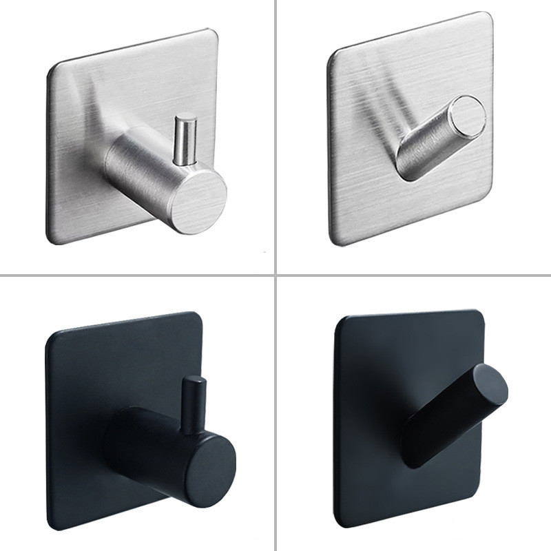 Robe Hook Hardware Rustproof-Hook-Hanger Stainless-Steel Bathroom Kitchen Black SUS304