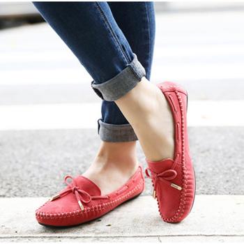 2020 damskie codzienne buty damskie mokasyny Bowtie damskie zamszowe w jednolitym cukierkowym kolorze wiosenne damskie mokasyny obuwie damskie nowość tanie i dobre opinie LLYGE Podstawowe CN (pochodzenie) Flock RUBBER Slip-on Pasuje prawda na wymiar weź swój normalny rozmiar Na co dzień