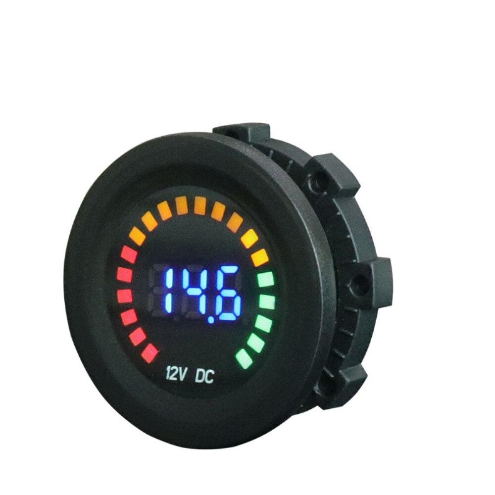Универсальный автомобильный вольтметр, 12 В постоянного тока, для мотоцикла, лодки, светодиодный цифровой вольтметр, панель, измеритель, мон...