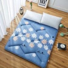 Модные Листья Складные 5 см татами напольный коврик/коврик Comfy футон для общежития/дома сон одного использования спальный матрас/кровать