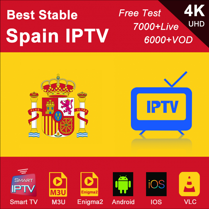Spanish IPTV Spain Subscription M3U Abonnement IPTV France Germany Italy Portugal Android Smart IPTV Enigma2 For IOS Phone