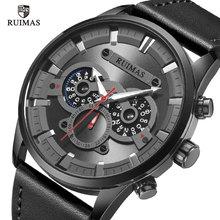 RUIMAS Fashion Men's Sport Quartz Watch Men Military Multifunction Waterproof Luminous Wristwatch Men Male Clock Relojes men quartz watch chronograph leather strap luminous waterproof wristwatch sport clock 17 lxh