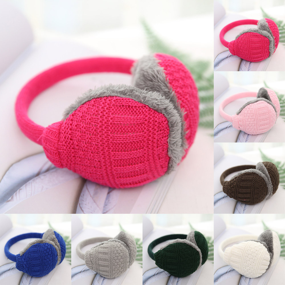 Best Selling 2019 Product Unisex Knit Earmuffs Faux Furry Earwarmer Winter Outdoor Earmuffs Clothing Accessories Dropshipping #2