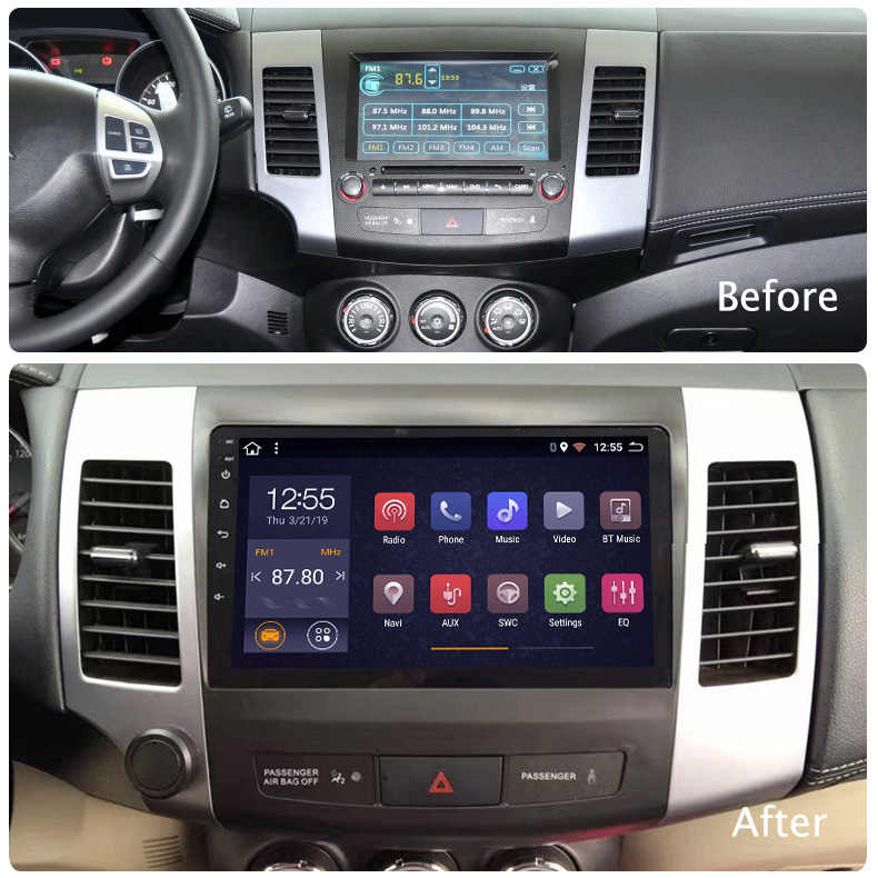 Auto Multimedia 9 Inch 2.5D Voertuig Android 8.1 Auto Radio Voor Mitsubishi Pajero 2006-2014 Gps Navigatie Stereo