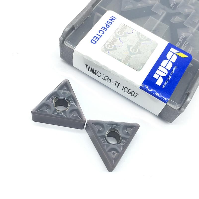 10PCS TNMG160404 TF IC907/IC908  External Turning Tools TNMG 160404 Carbide Inserts Lathe Cutter Cutting Tool CNC Tools