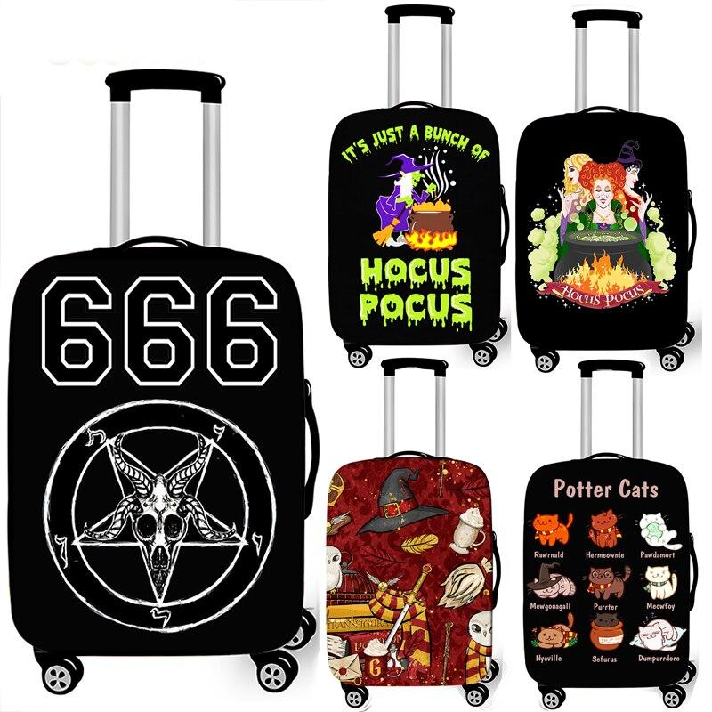 Cubierta de equipaje Hogwarts Gryffindor Slytherin accesorios de viaje funda de maleta con ruedas elásticas para 18-32 pulgadas